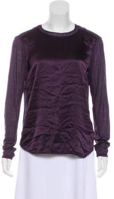Vince Silk Long Sleeve Top