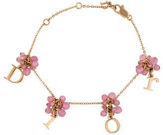 Christian Dior Christian Dior Bead Logo Charm Bracelet