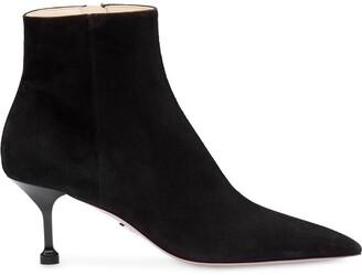 Prada kitten heel ankle boots