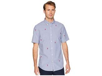 Chaps Short Sleeve Embroidered Woven Shirt Men's Clothing