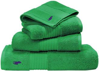 Ralph Lauren Home Player Towel - Medium Green - Bath Sheet