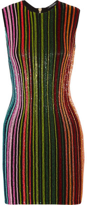 Balmain - Beaded Mesh Mini Dress - Green $5,255 thestylecure.com