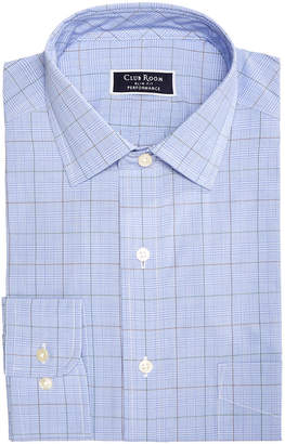Club Room Men's Slim-Fit Performance Stretch Wrinkle-Resistant Small Glenplaid Dress Shirt, Created for Macy's