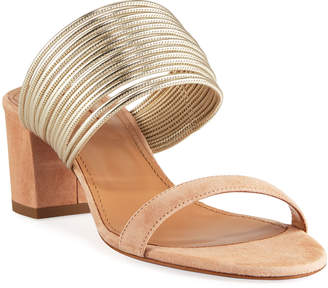 Aquazzura Rendez Vous Slide Sandals