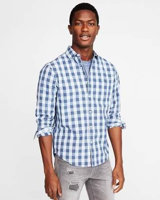 Express Classic Soft Wash Checkered Shirt