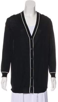 Prada Knitted V-Neck Cardigan