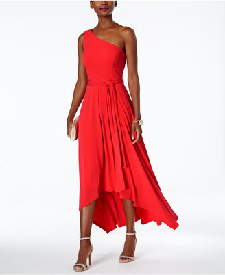 Vince Camuto Belted One-Shoulder Maxi Dress $128 thestylecure.com