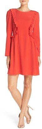 CeCe Carly Ruffle Fit & Flare Dress $128 thestylecure.com