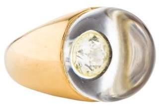 Mauboussin Diamond & Rock Crystal Ring