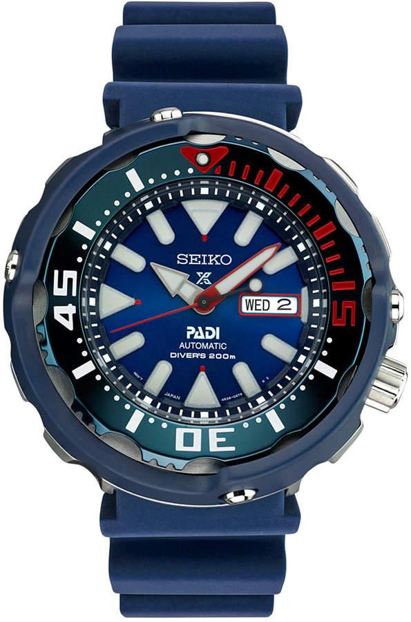 SeikoSeiko Men's Automatic Prospex Padi Special Edition Diver Blue Silicone Strap Watch 50mm SRPA83