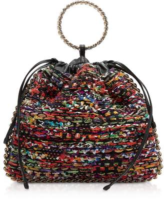 Balmain Multicolor Tweed Tricot B-Link Bracelet Backpack
