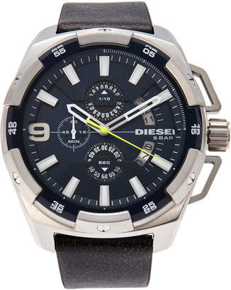Diesel DZ4418 Silver-Tone & Brown Watch