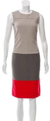 Diane von Furstenberg Colorblock Knee-Length Dress