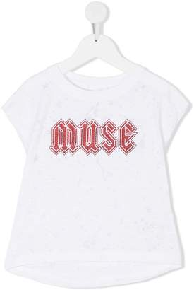 Zadig & Voltaire Kids glitter muse T-shirt