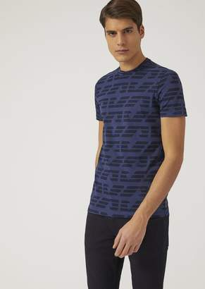 Emporio Armani T-Shirt With All Over Logo