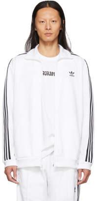 adidas White Franz Beckenbauer Track Jacket