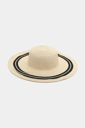 Ardene Striped Straw Hat