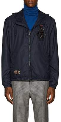 Fendi Men's Bug-Patch Tech-Fabric Hooded Jacket