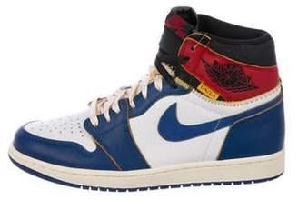 Nike Jordan x Union 1 Retro High Blue Toe Sneakers w/ Tags