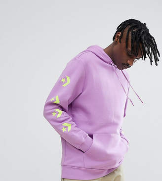 Converse Pullover Hoodie With Arm Print In Purple Exclusive To ASOS