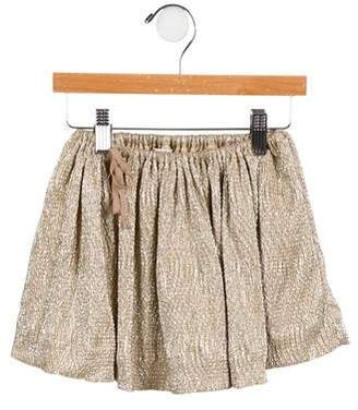Caramel Baby & Child Girls' Metallic Skirt
