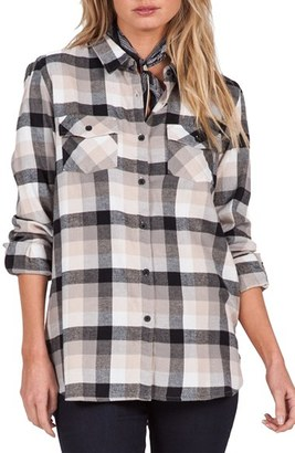 Volcom Desert High Plaid Top $52 thestylecure.com