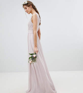5ba351d8a92 TFNC Tall Tall Wrap Front Maxi Bridesmaid Dress With Embellishment