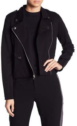 June & Hudson Ponte Lined Moto Jacket