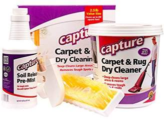 Capture Carpet Dry Cleaning Kit 250 - Resolve Allergens Stain Smell Moisture from Rug Furniture Clothes and Fabric