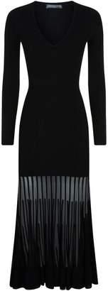 Alexander McQueen Sheer Hem Midi Dress