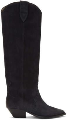 Isabel Marant Black Washed Denvee Boots