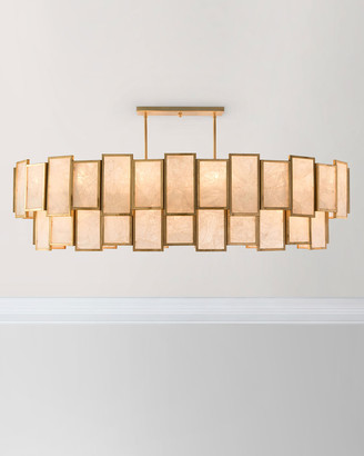 John-Richard Collection John Richard Collection Calcite Panel 21-Light Pendant