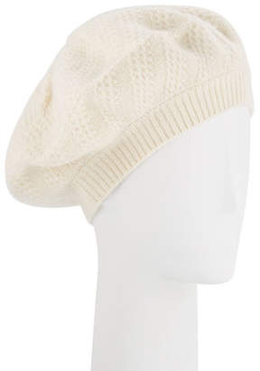 Sofia Cashmere Honeycomb Textured Knit Beret