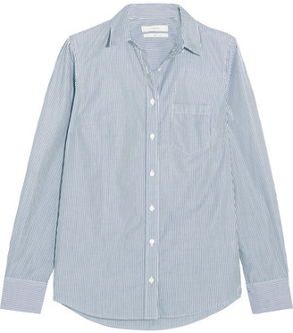 J.Crew Boy Striped Cotton-poplin Shirt - Navy