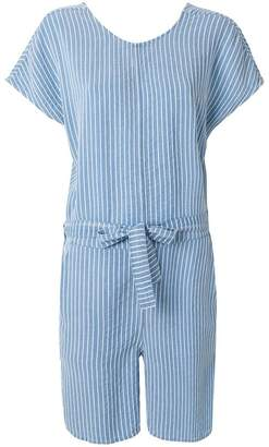 Closed striped playsuit