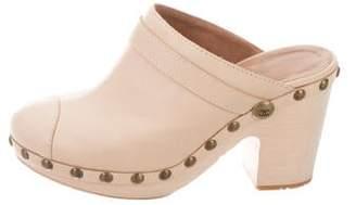 Chanel CC Cap-Toe Platform Mules