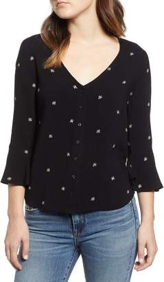 Obey Caffe Print Blouse