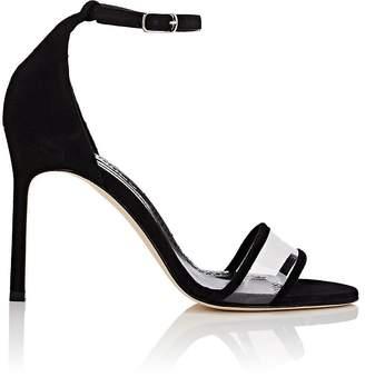 Manolo Blahnik Women's Lavanasa Suede & PVC Sandals