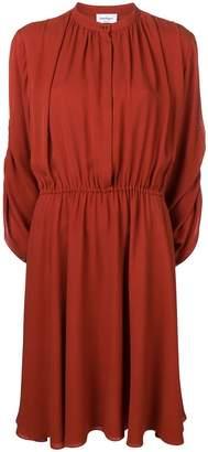 Salvatore Ferragamo long-sleeve flared dress