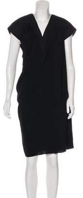 Bottega Veneta Short Sleeve Knee-Length Dress