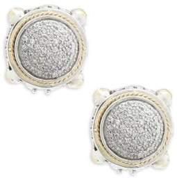 Effy 18K Yellow Gold & Diamonds Round Earrings