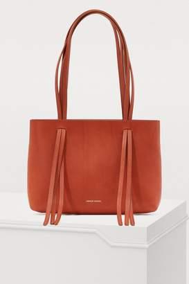 Mansur Gavriel Vegetable-tanned leather mini Fringe bag