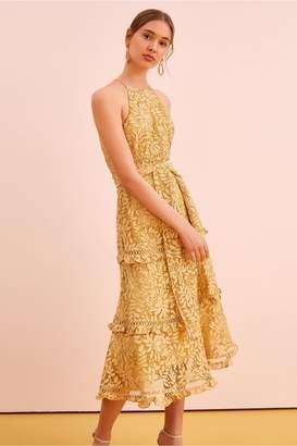 Keepsake IMAGINE MIDI DRESS golden yellow