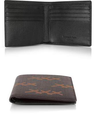 Ermenegildo Zegna XXX Printed Canvas and Leather Billfold Wallet