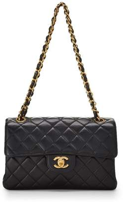 Chanel Black Quilted Lambskin Double Sided Flap Small