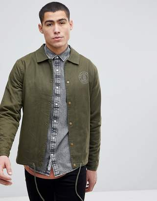 ONLY & SONS Coach Jacket In Cotton Twill