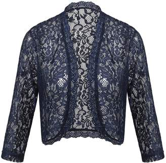 7d9671658136 Dealwell Lace Shrugs Boleros Ladies Summer Long Sleeve Cropped Cardigans (