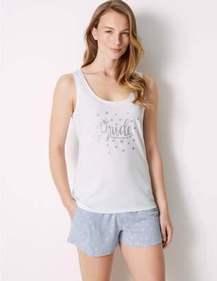 Marks and Spencer Bride Heart Print Short Pyjama Set