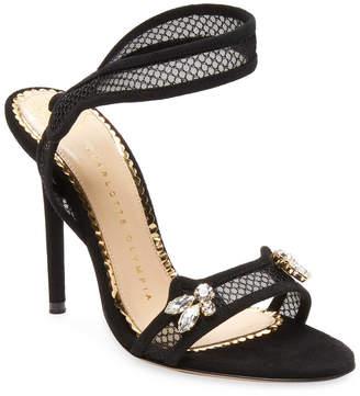 Charlotte Olympia Fishnet Ankle-Strap Sandal