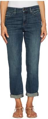 NYDJ Petite Petite Boyfriend Jeans in Crosshatch Denim in Desert Gold Women's Jeans